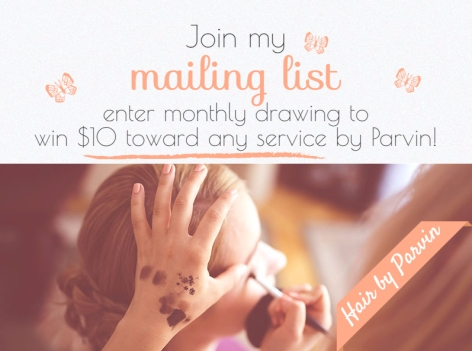 Join my mailing list monthly drawing