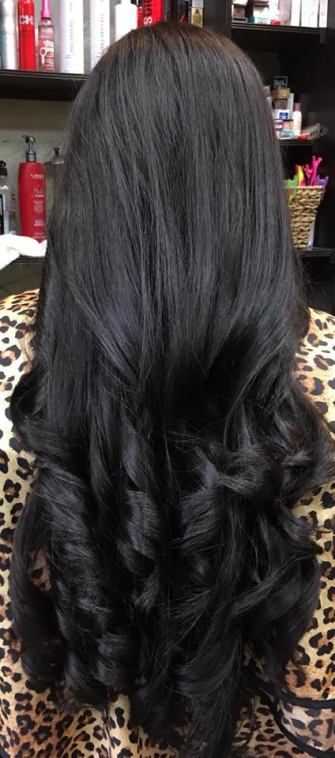 Long layers V haircut