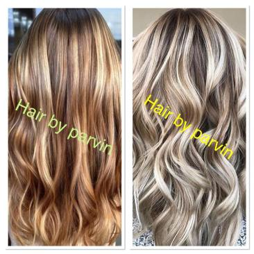 Hair color and highlights