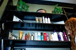 Hair salon products available